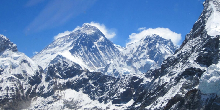 Mt. Everest view from Everest Base Camp